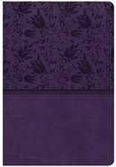CSB Giant Print Reference Bible Purple (Red Letter Edition) Imitation Leather