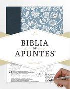 Rvr 1960 Biblia De Apuntes Azul (Notetaking Bible Blue) Hardback