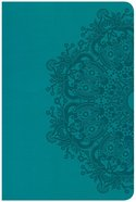 CSB Compact Ultrathin Reference Bible Teal (Red Letter Edition) Imitation Leather