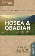 Hosea, Obadiah (Shepherd's Notes Bible Summary Series) Paperback