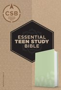 CSB Essential Teen Study Bible Personal Size Green Palms