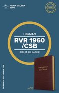 Rvr 1960/Csb Biblia Bilingue Borgoa (Csb/rvr 1960 Bilingual Bible Burgundy) Imitation Leather