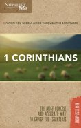 1 Corinthians (Shepherd's Notes Bible Summary Series) Paperback