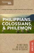 Philippians, Colossians, Philemon (Shepherd's Notes Bible Summary Series) Paperback