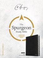 CSB Spurgeon Study Bible Black Indexed Genuine Leather