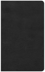 CSB Ultrathin Reference Bible Black Indexed Red Letter Edition