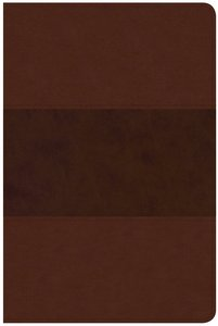 CSB Large Print Personal Size Reference Bible Saddle Brown Leathertouch