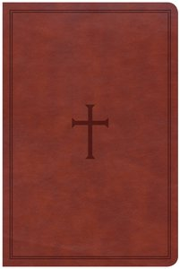 CSB Large Print Personal Size Reference Bible Brown Red Letter Edition