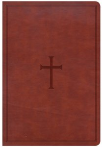 CSB Giant Print Reference Bible Brown (Red Letter Edition)