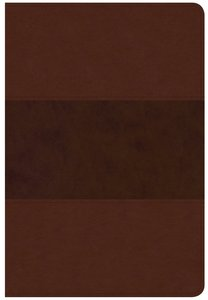 CSB Giant Print Reference Bible Saddle Brown Red Letter Edition