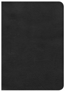 CSB Large Print Compact Reference Bible Black Red Letter Edition