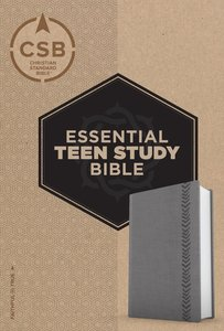 CSB Essential Teen Study Bible Personal Size Gray