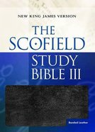 NKJV Scofield III Study Bible Black Bonded Leather