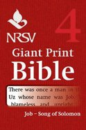 NRSV Giant Print Bible #04: Job - Song of Songs Paperback