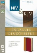 Niv/Kjv Parallel Study Bible Amber/Rich Red Duo Tone Imitation Leather
