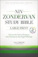 NIV Study Bible Large Print
