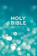 NIV Larger Print Blue Bible Hardback