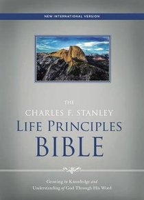 NIV the Charles F. Stanley Life Principles Bible Red Letter Edition