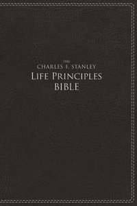 NIV the Charles F. Stanley Life Principles Bible Black (Red Letter Edition)