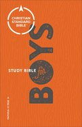 CSB Study Bible For Boys Orange/Grey (Red Letter Edition)