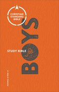 CSB Study Bible For Boys Orange/Grey (Red Letter Edition) Hardback