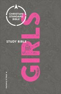 CSB Study Bible For Girls (Red Letter Edition)