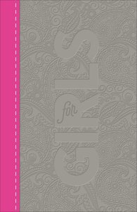CSB Study Bible For Girls Pewter/Pink Paisley Design Leathertouch (Red Letter Edition)