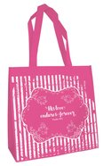 Tote Bag: His Love Endures (Dark Pink) Soft Goods