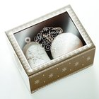 Christmas Porcelain Glory Ornament Set: Bell/Ball Glory to the Newborn King
