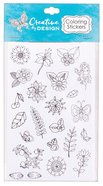 Colorable Stickers: Creative Design (6 Sheets) Stickers