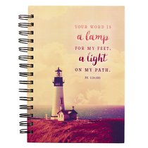 Wirebound Journal: Your Word is a Lamp, Lighthouse
