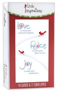 Christmas Boxed Cards Little Insprations: Cardinals Love Peace Joy (Romans 15:13)