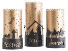 Christmas Names of Jesus Trio Hurricane Candle Holders: Savior, Jesus, Messiah