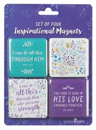 Inspirational Magnet Pack: I Can Do All This Through....Purple/Floral (Phil 4:13) Pack
