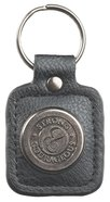 Luxleather Keyring With Charm: Mens Strong & Courageous Jewellery