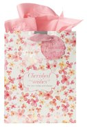 Gift Bag Medium Sing For Joy: Cherished Wishes (Pale Pink/orange/floral) Stationery