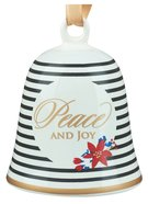 Ceramic Bell Ornament: Peace and Joy
