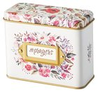 Prayer Cards in Tin Box: My Prayers, Floral Box
