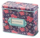 Prayer Cards in Tin Box: Pray Continually, Purple Floral Box