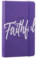 Notebook Journal: Faithful, Purple/White Luxleather Hardback