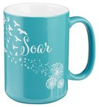Ceramic Mug: Soar, Blue/White (Isaiah 40:31) Homeware