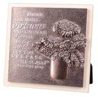 Plaque Moments of Faith Sculpture: Virtuous Woman, Small Square (Psalm 20:4) Plaque