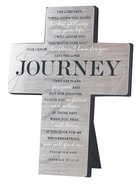 Metal Desktop Cross: Journey, Silver Printed (Psalm 32:8 & Jer 29:11-13) Homeware