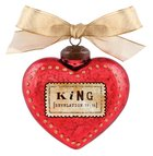 Christmas Glass Ornament Vintage Hearts: King (Revelation 19:16)