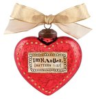 Christmas Glass Ornament Vintage Hearts: Immanuel (Matthew 1:23)