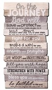 Stacked Wood Plaque: Journey, Medium Wall (Various Scriptures) Plaque