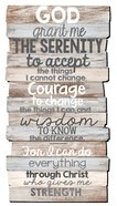 Stacked Wood Plaque: Serenity, Medium Wall (Phil 4:13)
