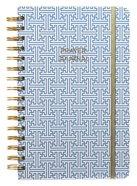 Prayer Journal: One Year Weekly Layout (Blue Maze Design) Spiral