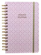 Prayer Journal: One Year Weekly Layout (Lilac Lattice Design) Spiral