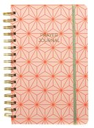 Prayer Journal: One Year Weekly Layout (Orange Geometric Design) Spiral